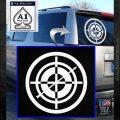 Hawkeye Target Scope emblem Drama Online Store Powered by Storenvy DLB Decal Sticker White Emblem 120x120