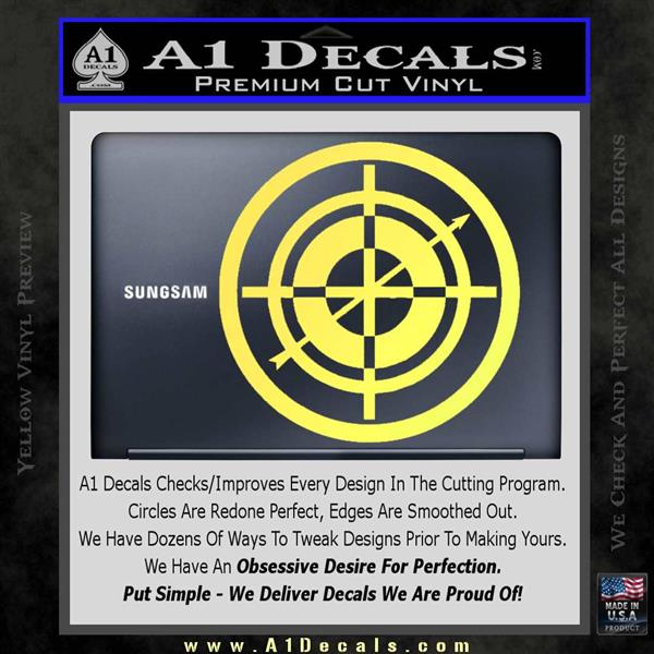 f74dc31ee19 ... Hawkeye Target Scope emblem Drama Online Store Powered by Storenvy DLB Decal  Sticker Yelllow Vinyl 120x120 ...