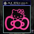 Hello Kitty Big Bow Decal Sticker Hot Pink Vinyl 120x120
