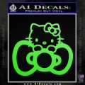 Hello Kitty Big Bow Decal Sticker Lime Green Vinyl 120x120
