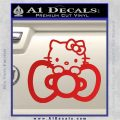 Hello Kitty Big Bow Decal Sticker Red Vinyl 120x120