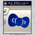 Hello Kitty Bow ALT Decal Sticker Blue Vinyl 120x120