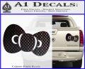 Hello Kitty Bow ALT Decal Sticker Carbon Fiber Black 120x97