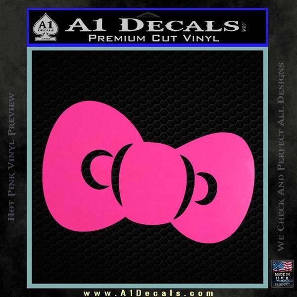 Hello Kitty Bow ALT Decal Sticker Hot Pink Vinyl