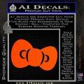 Hello Kitty Bow ALT Decal Sticker Orange Vinyl Emblem 120x120