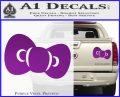 Hello Kitty Bow ALT Decal Sticker Purple Vinyl 120x97