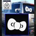 Hello Kitty Bow ALT Decal Sticker White Emblem 120x120