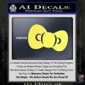 Hello Kitty Bow ALT Decal Sticker Yelllow Vinyl 120x120