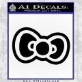 Hello Kitty Bow D2 Decal Sticker Black Logo Emblem 120x120