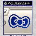 Hello Kitty Bow D2 Decal Sticker Blue Vinyl 120x120