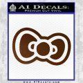 Hello Kitty Bow D2 Decal Sticker Brown Vinyl 120x120