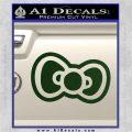Hello Kitty Bow D2 Decal Sticker Dark Green Vinyl 120x120