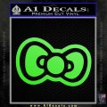 Hello Kitty Bow D2 Decal Sticker Lime Green Vinyl 120x120