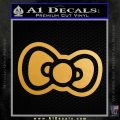 Hello Kitty Bow D2 Decal Sticker Metallic Gold Vinyl 120x120