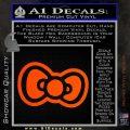 Hello Kitty Bow D2 Decal Sticker Orange Vinyl Emblem 120x120