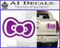 Hello Kitty Bow D2 Decal Sticker Purple Vinyl 120x97