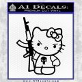 Hello Kitty Punish Decal Sticker Black Logo Emblem 120x120