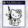 Hello Kitty Punish Decal Sticker Black Logo Emblem 120x120