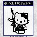 Hello Kitty Skul AK 47 Decal Sticker Black Logo Emblem 120x120