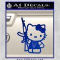 Hello Kitty Skul AK 47 Decal Sticker Blue Vinyl 120x120
