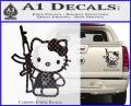 Hello Kitty Skul AK 47 Decal Sticker Carbon Fiber Black 120x97