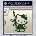 Hello Kitty Skul AK 47 Decal Sticker Dark Green Vinyl 120x120