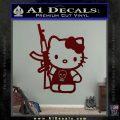Hello Kitty Skul AK 47 Decal Sticker Dark Red Vinyl 120x120