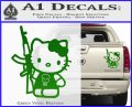 Hello Kitty Skul AK 47 Decal Sticker Green Vinyl 120x97