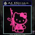 Hello Kitty Skul AK 47 Decal Sticker Hot Pink Vinyl 120x120