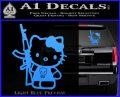 Hello Kitty Skul AK 47 Decal Sticker Light Blue Vinyl 120x97