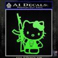 Hello Kitty Skul AK 47 Decal Sticker Lime Green Vinyl 120x120