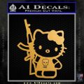 Hello Kitty Skul AK 47 Decal Sticker Metallic Gold Vinyl 120x120