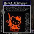 Hello Kitty Skul AK 47 Decal Sticker Orange Vinyl Emblem 120x120