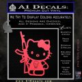 Hello Kitty Skul AK 47 Decal Sticker Pink Vinyl Emblem 120x120