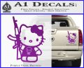 Hello Kitty Skul AK 47 Decal Sticker Purple Vinyl 120x97