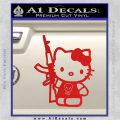 Hello Kitty Skul AK 47 Decal Sticker Red Vinyl 120x120