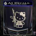Hello Kitty Skul AK 47 Decal Sticker Silver Vinyl 120x120