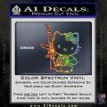 Hello Kitty Skul AK 47 Decal Sticker Sparkle Glitter Vinyl 120x120