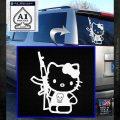 Hello Kitty Skul AK 47 Decal Sticker White Emblem 120x120