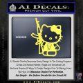Hello Kitty Skul AK 47 Decal Sticker Yelllow Vinyl 120x120