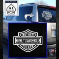 Highly Dangerous Mother Fucker Decal Sticker White Emblem 120x120