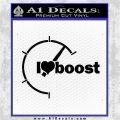 I Heart Boost Decal Sticker Heart Black Logo Emblem 120x120