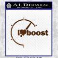 I Heart Boost Decal Sticker Heart Brown Vinyl 120x120