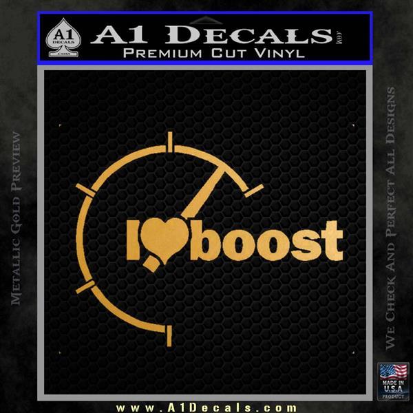 I Heart Boost Decal Sticker Heart Metallic Gold Vinyl