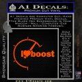 I Heart Boost Decal Sticker Heart Orange Vinyl Emblem 120x120