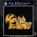 Ice Age Scrat Decal Sticker D1 Metallic Gold Vinyl 120x120