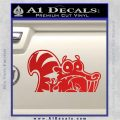 Ice Age Scrat Decal Sticker D1 Red Vinyl 120x120
