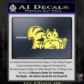 Ice Age Scrat Decal Sticker D1 Yelllow Vinyl 120x120