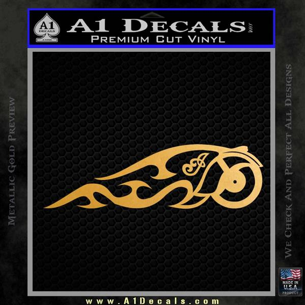 Indian Motorcycle Tribal Decal Sticker Metallic Gold Vinyl
