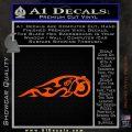 Indian Motorcycle Tribal Decal Sticker Orange Vinyl Emblem 120x120